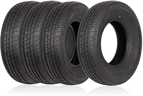 Weize Set of 4 ST225/75R15 Radial Trailer Tire 10 Ply Load Range E