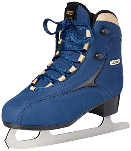 Roces 450617 Women's Model Caje Ice Skate, US 8, Blue/Gold