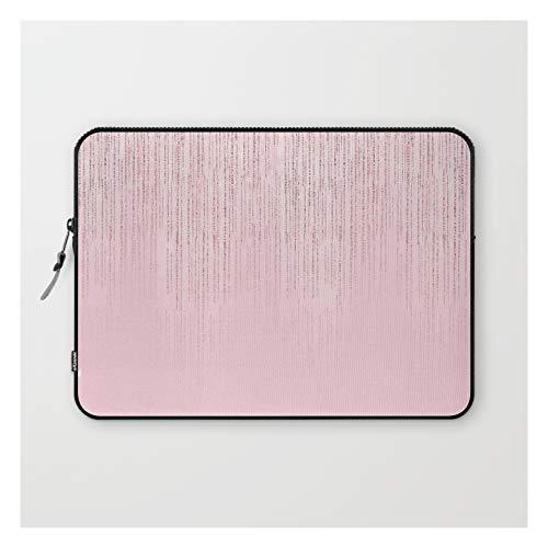 Laptop Sleeve - Laptop Sleeve - 13' - Glamorous Blush Pink Girly Glitter by Pink Water