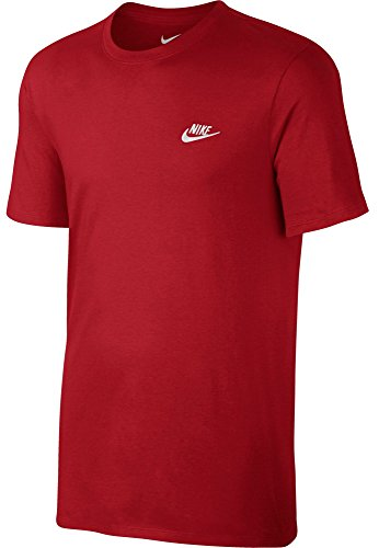 Nike M NSW Tee Club EMBRD FTRA – T-Shirt à Manches Courtes pour Homme S Rojo (Sport Red/Sport Red/Blanco)