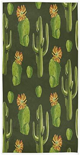 Plantas de Cactus Toallas de Mano Suculentas de Verano Toalla de baño Ultra Suave Altamente Absorbente Toalla de baño pequeña Plato de Cocina Toalla para Invitados Decoraciones de baño 70×140cm