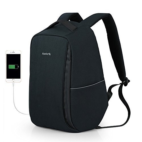 Hanke Anti-Theft Business Laptop Backpack with USB Charging Port