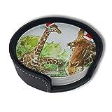 OUYouDeFangA - Posavasos con diseño de jirafas, con juego de soporte, tazas redondas y tazas para bebidas, apto para el hogar y la cocina (6 unidades)