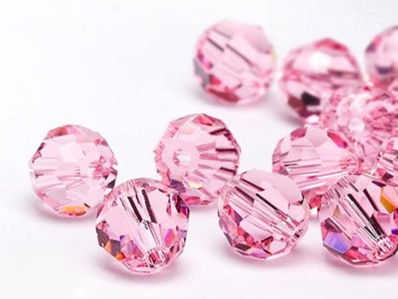 Glass Beads of Swarovski Elements round 10mm (Light Rosé), 144 Pieces