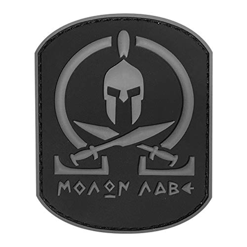 Morton Home Molon Labe Fastener Patch | Airsoft Paintball Tactical Military Rubber Badges PVC Rubber 3D Morale (Gray)