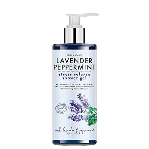 Pharm to Table Stress Release/Lavender & Peppermint Shower Gel Body Wash 32oz / 960m