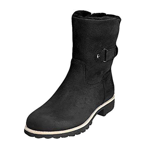 Oldlover✚ Winter Snow Boots for Women Warm Fur Lined Ankle Boot Outdoor Anti-Slip Waterproof Booties Platform Shoes