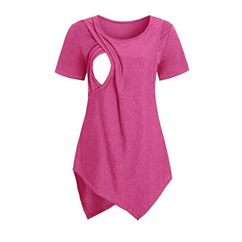 Lenfesh kamizelka ciążowa dla kobiet w ciąży, na lato, do karmienia piersią, z krótkim rękawem