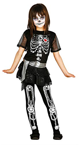 FIESTAS GUIRCA Disfraz Esqueleto Estampado Brillante niña Talla 10-12 años
