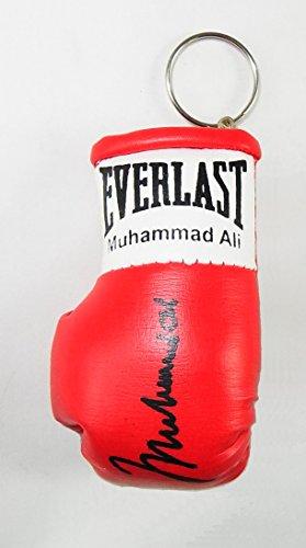 boxing memorabilia Signiert Mini Boxhandschuh Schlüsselanhänger Muhammad Ali