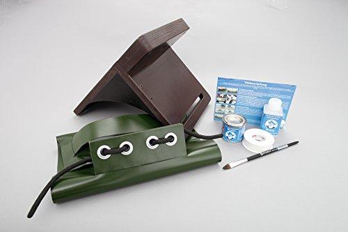 Set: Heckspiegel Motorhalterung + Kleber Kit, Schlauchboot E-motor Echolotgeber