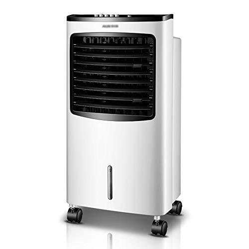 Raffrescatore, Condizionatore d'aria portatile, Fan Refrigeratore Air Bianco Silenzioso, Velocità del vento a tre blocchi, Serbatoio dell'acqua visibile, Funzionamento semplice, Risparmio di spazio, G