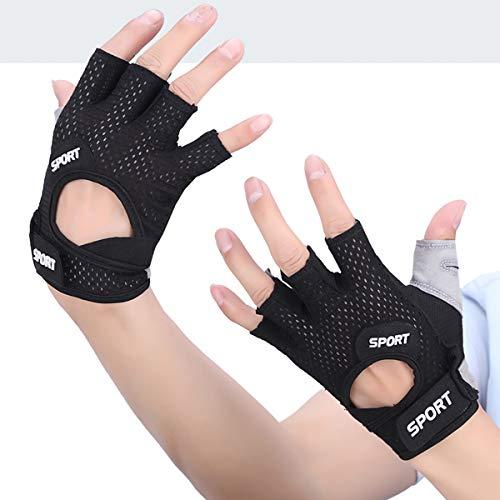 1 par de guantes de fitness, transpirables, protección completa de la palma,...