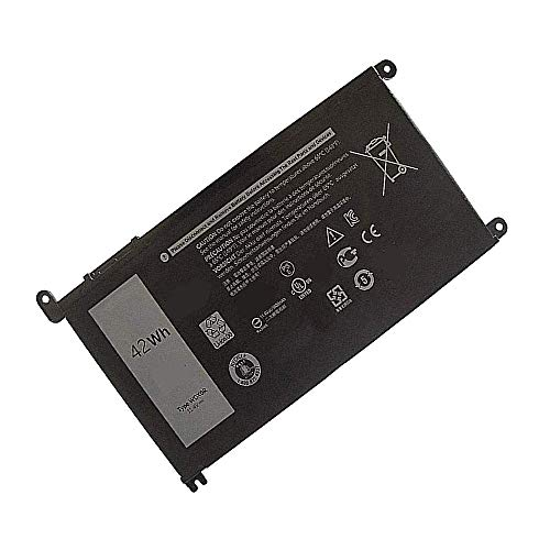 Toopower New WDX0R WDXOR Notebook Battery Replace for Dell Inspiron 15 5565 5567 5568 5578 7560 7569 7570 7579 Inspiron 17 5765 5767 Inspiron 13 5368 5378 7368 7378[11.4V 42WH]
