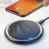 【村田製チップ/業界先端15W充電】【改善版】 VANMASS Qi 15W ワイヤレス充電器 急速充電 置くだけ充電 PSE認証 ワイヤレスチャージャー 15W/7.5W/10W 滑り止め 充電器 無線充電器 iPhone 11/11 Pro/XS/XS Max/XR/X / 8 / 8 Plus/airPods 2/airPods Pro、Galaxy S9 / S9+ / S8 / S8+/S10/S10+/その他Qi対応機種 Type c ケーブル付属 (ブラック)
