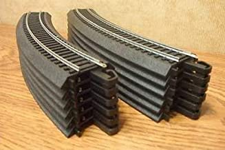 """HO Scale Bachmann Steel Alloy EZ Track 12 Pieces of 18"""" Radius Curves for Model Railroad Trains"""