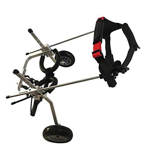 Silla de ruedas para perros, ruedas para caminar para perros pequeños / medianos / grandes, soporte para piernas para perros, rehabilitación de piernas traseras, ruedas de ejercicio para animales pequ