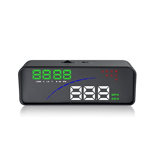 Rabusion New for P9 Car HUD Head Up Display OBD Smart Digital Meter HD Projector Display for Most Cars