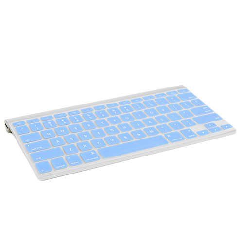 TOP CASE Silicone Cover Skin Compatible with Apple Wireless Keyboard with TOP CASE Mouse Pad (Apple Wireless Keyboard, Blue)
