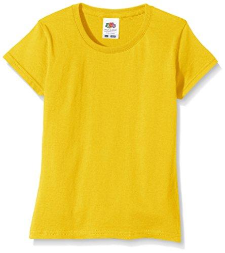 Fruit of the Loom Mädchen Sofspun T-Shirt, Sonnenblume, 7-8 Jahre