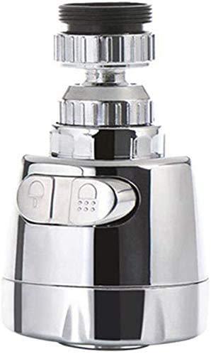 SHBV Grifo de Fregadero Giratorio de 360 Grados Grifo de burbujeador extendido Aireador Grifo de Ahorro de Agua Filtro de Grifo Ajustador de pulverización Cabezal de Boquilla para baño Cocina