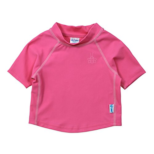 i play. by green sprouts Baby Rashguard, Hot Pink, 24 Months
