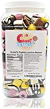 Sarah Candy Factory English Licorice Allsorts in Jar, 5 Lbs