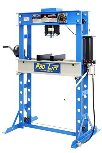 Pro-Lift-Werkzeuge Hydraulik-Presse 45 t Werkstatt Pneumatik-Antrieb Handhebel manuell Industriepresse umformen Shop-Press Abkantpresse verschraubt