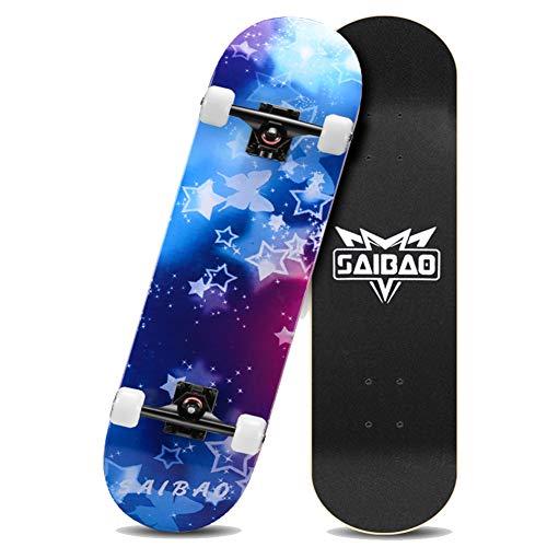 Nengge beginners skateboard, professionele kinderen, concaaf, skateboard compleet voor kinderen, beginners en volwassenen, jongeren, sterren en actiewielen