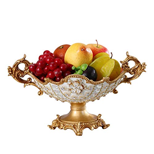 Or Creative Salon Fruit Bol Haute Décoration Décoration Américain Ménage Table Basse Plateau De Stockage De Clés Maison De Luxe Rétro Aladdin Magique Lampe