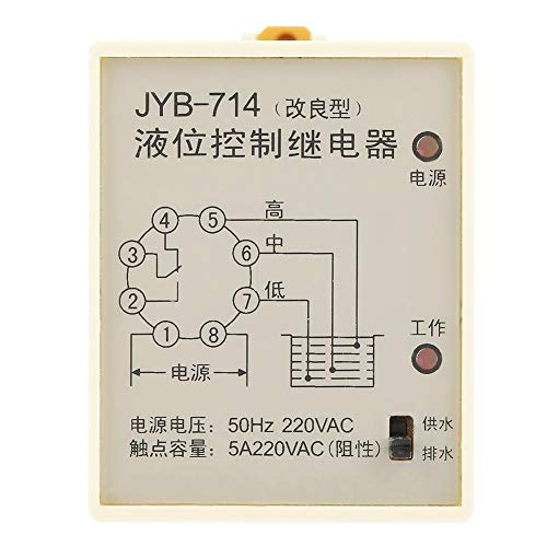 Füllstandsrelais, JYB-714 Füllstandsrelais Wasserstandsregler mit Sockel 220V