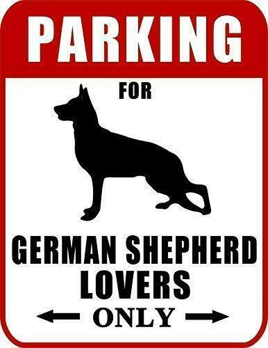 2 Count Top Shelf Novelties Parking for German Shepherd Lovers Only Dog Sign SP2045