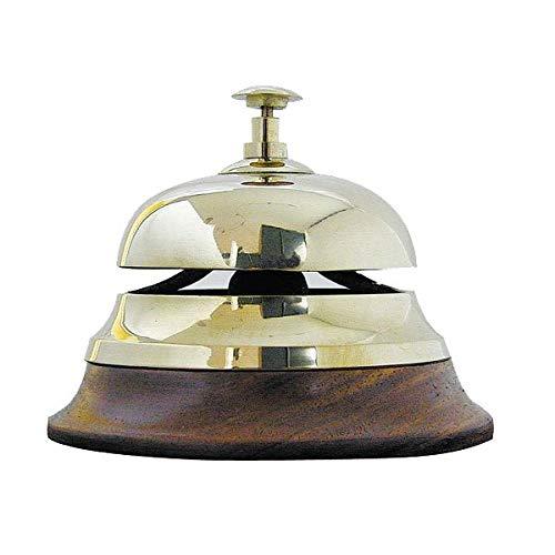 Glocke mit Anker-Wandhalterung Messing antik perfekt für die maritime  ...