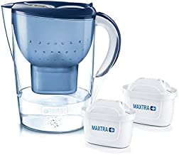 BRITA Marella XL Water Filter Electronic Indicator Jug with 2X MAXTRA + Filter Cartridge 3.5L- Blue by BRITA