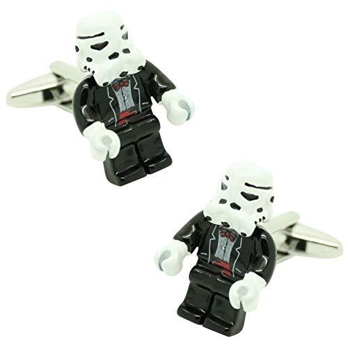 MasGemelos Weitere Manschettenknöpfe - Stormtrooper Manschettenknöpfe Lego Star Wars Manschettenknöpfe