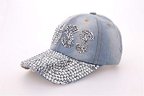 Baseball Cap für Damen und Herren aus Reiner Baumwolle, verstellbar, Basecap Kappe Mütze Hut,BOSS Point Drill Denim Baseball Cap Schirmmütze Outdoor Sun Hat, A