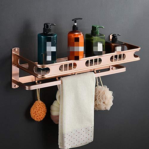 Toallero de baño de aluminio espacial con luz doble, moderno y minimalista, toallero de baño, accesorios de baño, colgante-3