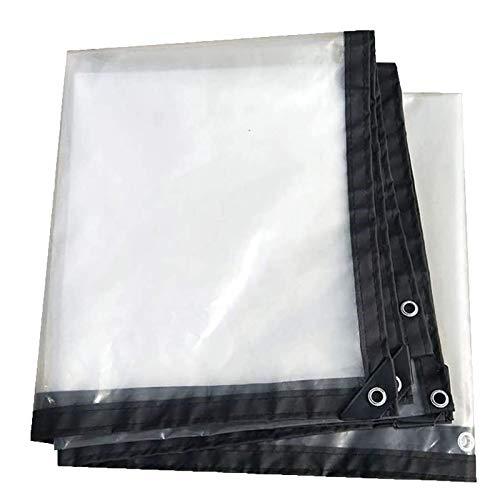 Lona Impermeable Grande Lona Transparente con Agujeros Resistente A Los Rayos UV Lona Resistente Al Desgarro for Muebles de Jardín, Exterior, Patio, Transparente (Color : Clear, Size : 3x5m)