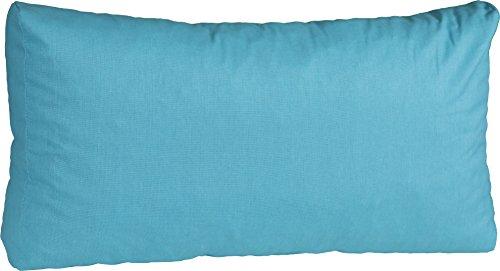 Beo Beo Loungekissen 80 x 40 cm Rückenkissen für Rattan Gartenmöbel in türkis