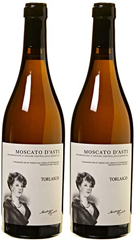 Torlasco Confezione Regalo Bottiglie Moscato d Asti Docg Vino Dolce - Confezione da 2 X 750 ml