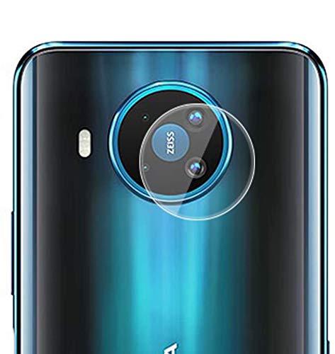 NOKOER Kamera Panzerglas Kompatibel für Nokia 8.3, [3 Stück] Superdünnes Gehärtetes 2.5D Kamera Schutzglas, 360 Grad Schutzkamera- Transparent