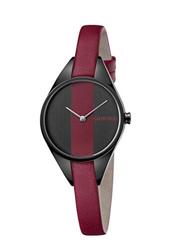 Calvin Klein Reloj Analógico para Mujer de Cuarzo con Correa en Cuero K8P237U1