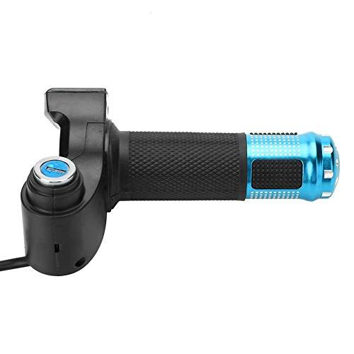 【𝐎𝐟𝐞𝐫𝐭𝐚𝐬 𝐝𝐞 𝐁𝐥𝐚𝐜𝐤 𝐅𝐫𝐢𝐝𝐚𝒚】Twist Grip Throttle, Grip Handlebar, Throttle Puños, Mini piezas de bicicleta para bicicleta eléctrica(blue)