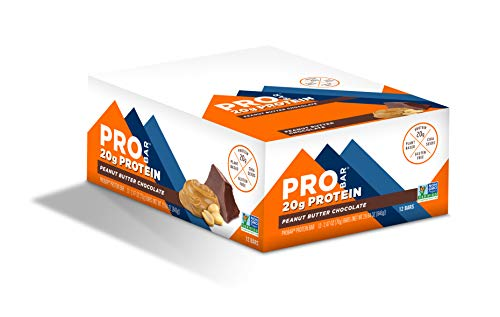 PROBAR - Base Protein Bar, Peanut Butter Chocolate, Non-GMO, Gluten-Free, Healthy, Plant-Based Whole Food Ingredients (12 Count)