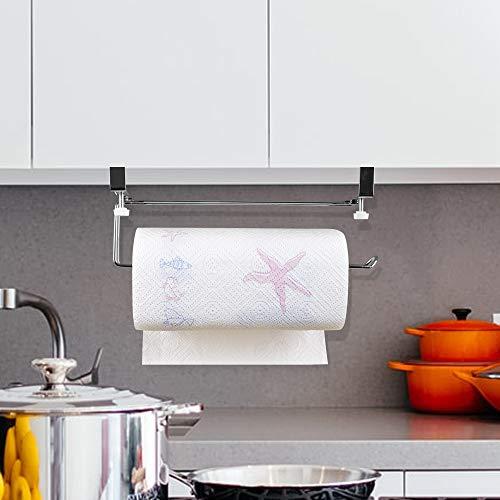 Numola Paper Towel Rack Holder Extra Large amp Adjustment Width Paper Towel Holder Apply Furniture 0414 inches Thicker Removable Paper Roll Holder for Kitchen Bathroom Garage etc