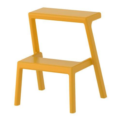 IKEAイケア Masterby ステップスツール 家庭用プラスチック踏み台 黄色