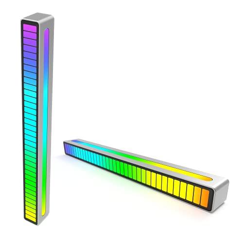 RGB Sound-Control Rhythm Pickup Lights, Voice-Activated...