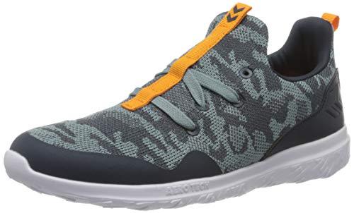 Hummel Unisex-Kinder Actus Camo Jr Sneaker Niedrig, Blau (Blue Nights 7429), 26 EU