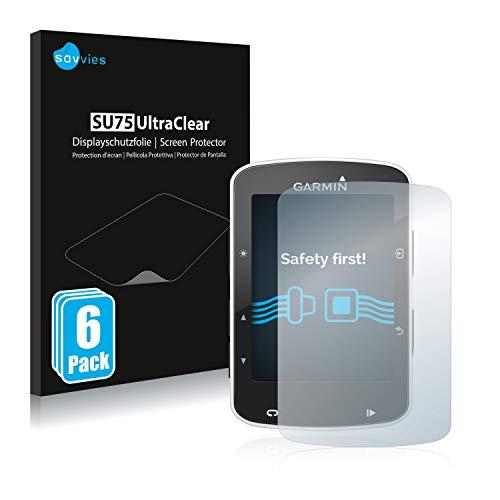 savvies Protector Pantalla Compatible con Garmin Edge 520/820 (6 Unidades) Pelicula Ultra Transparente