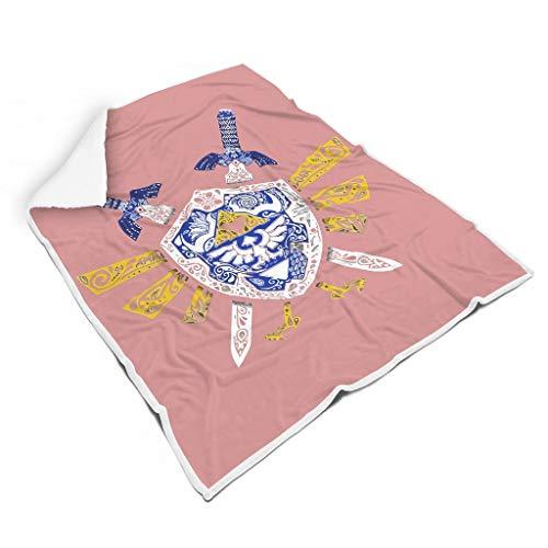 NC83 Deken Zelda Ontwerp Gedrukt Fleece Twee maten Robe Plafond - Zwaard kantoor past lunch pauze gebruiken